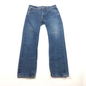 Mens 34×32 Levis 505 Jeans Denim Straight Leg Blue